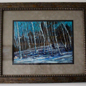 White Birches at Presque Isle by Mary Kay Geary