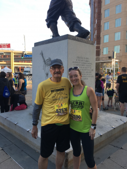 Victor and his daughter, Rachel, both ran in the Pittsburgh Marathon 5K.