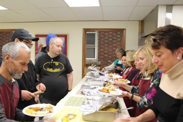 Thanksgiving Dinner At Emmaus Soup Kitchen
