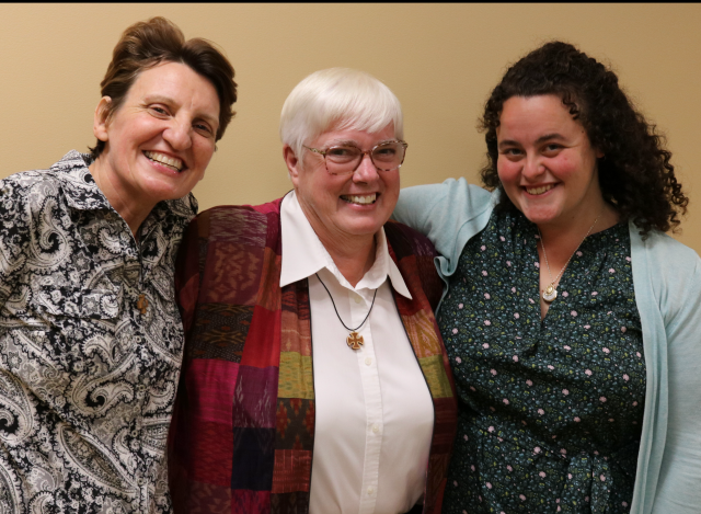 Sisters Colleen Leathley, Ann Muczynski, and Jacqueline Sanchez-Small