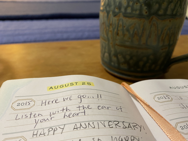 Sister Val's journal entry from August 25, 2015