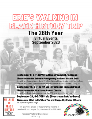 Benedictines for Peace invites you to Erie's Walking in Black History Trip.