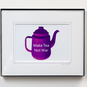 Make Tea Not War by Jo Clarke, Obl