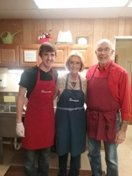 Darrell (R) with his grandson, Corey, and wife, Nancy