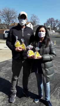 Nancy and Fred Bird deliver Easter bags