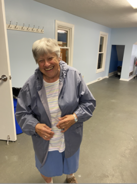 Sister Lucia returns to the food pantry