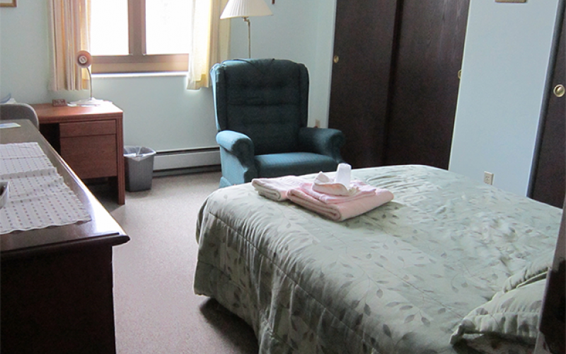Monastery guest room