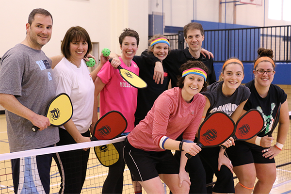 A group of Pickleball players