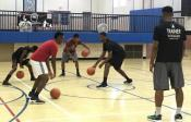 A&K Basketball Skills Clinic in session at the St. Benedict Community Center
