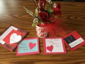 Valentines for the soup kitchen guests.