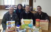 Left to Right Tom Wittmann, Mark Connolly and John Curtin with Rita Scrimenti, Emmaus' social worker