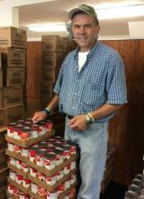 Brian Martin at the Emmaus Food Pantry