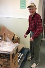 Longtime Pantry Volunteer Dmitry Tishchenko Turns 90 years old!