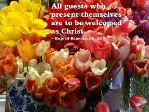All guests are to be welcomed as Christ.