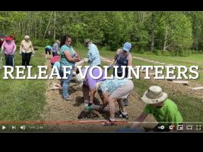 Planting 270 trees as part of ReLeaf