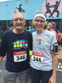 Victor and Sister Linda Romey both ran the Neighborhood Art House Art & Sole 5K in June.
