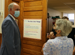 """Senator Casey comments to Sister Mary Miller <br />on the """"Kids Cafe Pledge"""""""