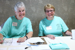 Oblates Mary Hembrow Snyder and Janice Etchison