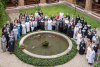 Participants gather in the courtyard at the monastery of Sant' Anselmo in Rome. Photo: Br. Simon Stubbs, OSB, Sant' Anelsmo