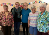 Sister Karen, Katie, Sisters Rosanne, Lucia and Claire Marie live in intergenerational community.
